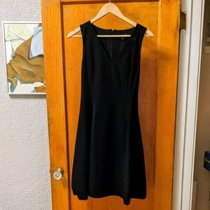 Black V-Neck Fit and Flare with POCKETS
